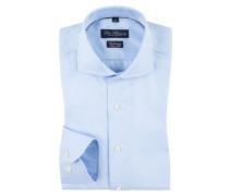 Slim Fit Vollzwirn-Hemd, extra langer Arm, uni von Tom Rusborg in Hellblau für Herren