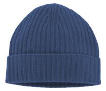 Modische Kaschmir-Strickmütze von Tom Rusborg Premium in Blau für Herren