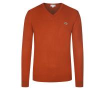V-Neck Pullover von Lacoste in Orange für Herren