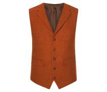 Harris Tweed Weste von Tom Rusborg in Orange für Herren