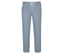 Karierte Pyjamahose von Novila in Marine für Herren