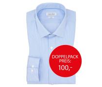 Businesshemd im Streifen-Dessin von Calvin Klein in Hellblau für Herren