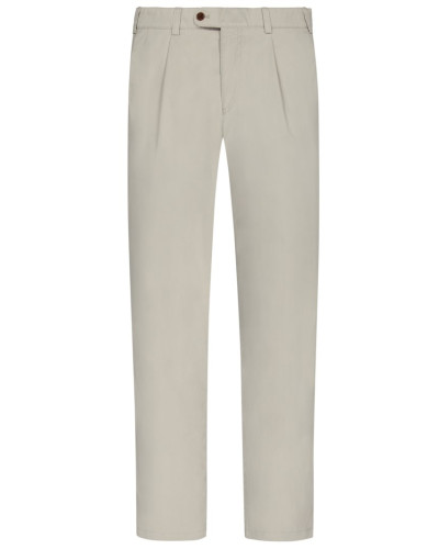 Chino mit Bundfalte, Luis-S, Regular Fit in Beige