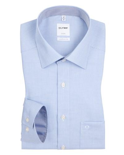 olymp herren comfort fit hemd mit feiner struktur hellblau von olymp reduziert. Black Bedroom Furniture Sets. Home Design Ideas