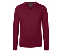 V-Neck Pullover aus 100% Kaschmir von Tom Rusborg Premium in Bordeaux für Herren