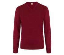 Exklusiver V-Kragen Pullover aus Schurwolle von Maerz in Bordeaux für Herren