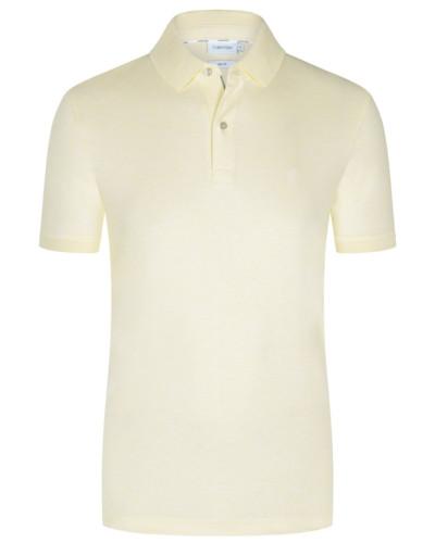 Poloshirt in Jersey-Qualität, Slim Fit in Gelb