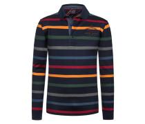 Ringel-Poloshirt, 100% Baumwolle von Paul & Shark in Marine für Herren