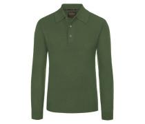 Pullover mit Polokragen aus 100% Kaschmir von Tom Rusborg Premium in Oliv für Herren
