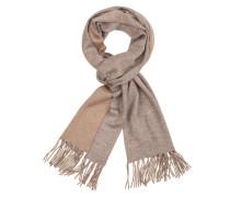 Bicolour Schal aus 100% Kaschmir von Tom Rusborg Premium in Silber für Herren