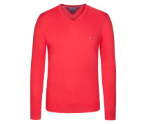 Pullover, Pima Cotton-Cashmere V-Neck von Tommy Hilfiger in Rot für Herren