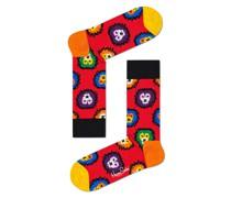 Socken mit Kontrastmotiv