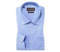 Custom Fit Hemd mit Button-Down-Kragen von Jacques Britt in Blau für Herren