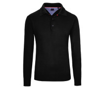 Pullover mit Polokragen von Tom Rusborg in Schwarz für Herren