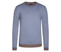 Pullover im Baumwollmix, dezentes Muster von Tom Rusborg in Braun für Herren