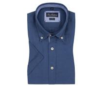Leinenhemd, Kurzarm von Tom Rusborg in Denim für Herren