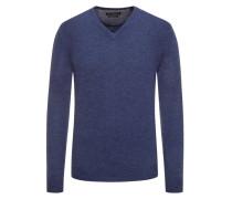 Pullover im Merino-Mix, V-Neck  Denim