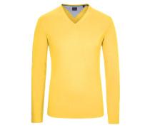 V-Neck Basic Pullover von Tom in Gelb für Herren