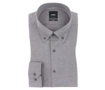 Meliertes Slim Fit Businesshemd von Strellson in Grau für Herren