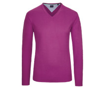 V-Neck Basic Pullover von Tom in Flieder für Herren