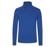 Kaschmir Rollkragenpullover von Tom Rusborg Premium in Mittelblau für Herren