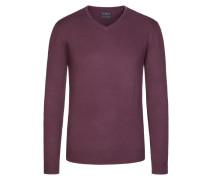 V-Neck Basic Pullover von Tom Rusborg in Bordeaux für Herren