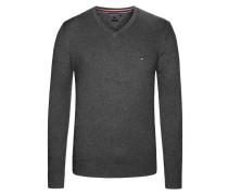 V-Neck Pullover, Cotton Cashmere von Tommy Hilfiger in Anthrazit für Herren