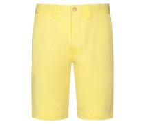 Bermuda im Washed-Look in Gelb