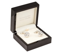 Manschettenknöpfe Knoten von Tom Rusborg Premium in Silber für Herren