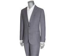 Businessanzug, Comfort Fit, Glencheck-Muster von Eduard Dressler in Blau für Herren