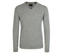 V-Neck Pullover aus 100% Kaschmir von Tom Rusborg Premium in Silber für Herren