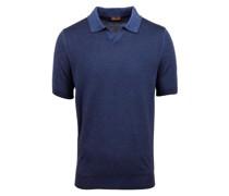 Poloshirt, Strick  Marine