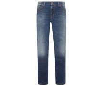 Superfit Regular Slim Fit Jeans von Alberto in Marine für Herren