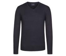 V-Neck Basic Pullover von Tom Rusborg in Schwarz für Herren