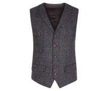 Hochwertige Weste aus 100% Schurwolle, Harris Tweed von Tom Rusborg in Mittelgrau für Herren