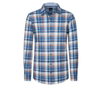 Casual Flanellhemd von Olymp in Blau für Herren