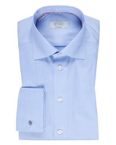 eton herren businesshemd mit umschlagmanschette blau von eton reduziert. Black Bedroom Furniture Sets. Home Design Ideas
