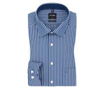 Luxor modern fit Hemd, gestreift von Olymp in Blau für Herren