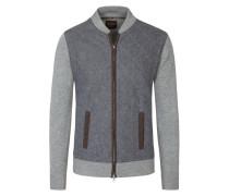 Detailverliebte Strickjacke von Tom Rusborg Premium in Grau für Herren