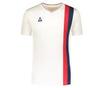 T-Shirt in Retro-Optik mit Längsstreifen von Le Coq Sportif in Offwhite für Herren