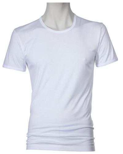 T-Shirt, Rundhals in Weiss