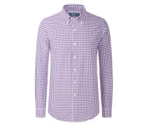Kariertes Oxfordhemd, Custom Fit von Polo Ralph Lauren in Flieder für Herren
