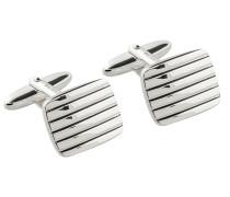 Manschettenknöpfe mit feinen Rillen von Tom Rusborg Premium in Silber für Herren