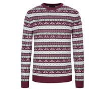Pullover im Merinowolle-Kaschmir-Mix  Bordeaux
