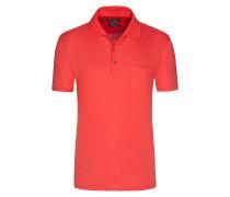 Mercerisierters Poloshirt mit feiner Musterung von Tom Rusborg in Rot für Herren