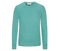 Pullover Sommerwolle, O-Neck  Mint