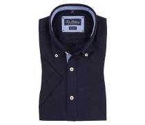 Leinenhemd, Kurzarm von Tom Rusborg in Blau für Herren