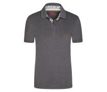 Poloshirt in Slub-Yarn-Optik von Tom Made In Heaven in Anthrazit für Herren