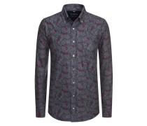 Flanellhemd im Paisley-Muster von Tom Rusborg in Grau für Herren