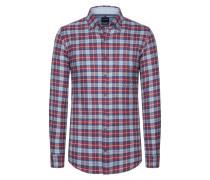 Casual Flanellhemd, Button-Down von Olymp in Rot für Herren